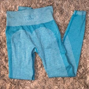 Light blue work out leggings